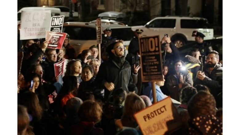WATCH: 'Dreamers' Storm Schumer's New York City Home, Demand Amnesty 'Now'