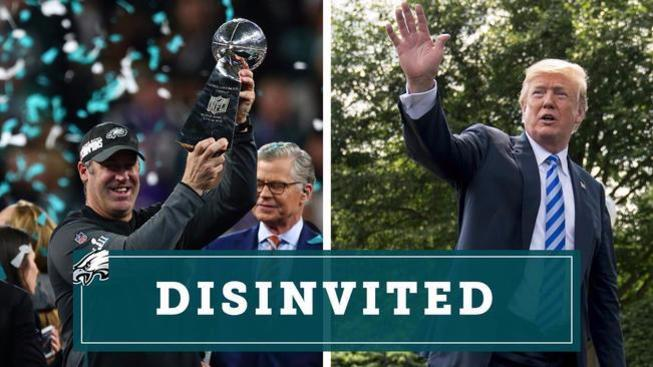 Trump disinvites Eagles from White House, plans 'different type of ceremony' for fans